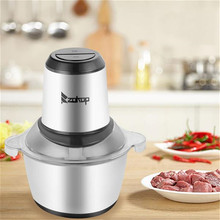 USA Warehouse 300W Stainless Steel 2L Capacity Household Electric Chopper Meat Grinder Mincer Food Processor Slicer Mixer