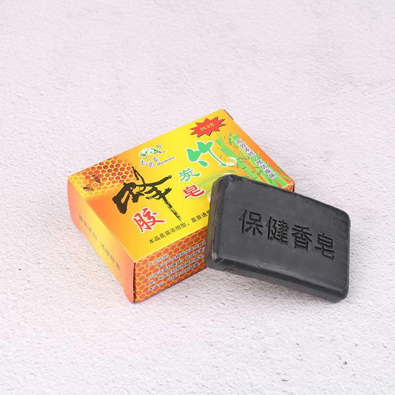 Jabón de carbón de bambú hecho a mano para el cuidado de la piel, jabón blanqueador de piel Natural, removedor de espinillas, tratamiento para el acné, Control de aceite