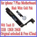 Материнская плата для iphone 7 Plus  100% оригинальная  разблокированная  с Touch ID/без Touch ID  для iphone 7 P  32 ГБ 128 ГБ 256 ГБ