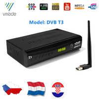 DVB-T2/DVB-T TV Receiver HD Digital TV Tuner Receptor DVB T2 H.265 Terrestrial Wifi Receiver Set Top Box For Russian DVBT2 Dolby
