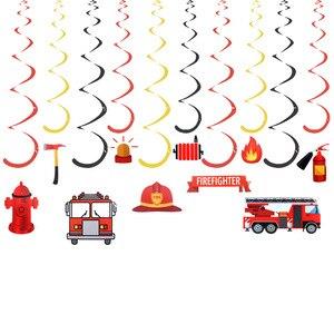 Набор пожарного вечерние украшения DIY спиральный орнамент вихревой украшения пожарные принадлежности для тематической вечеринки вечерние Товары для детей на день рождения украшения