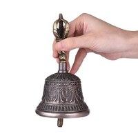 Premium Handcrafted Tibetan Meditation Singing Bell with Dorje Vajra Bronze Temple Buddhism Buddhist Practice Instrument