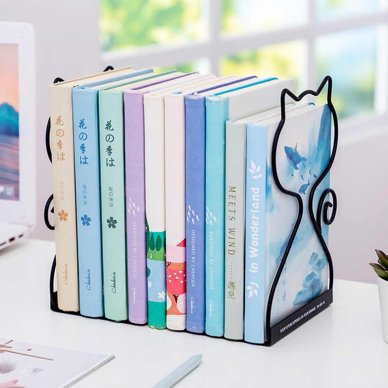 Pair Rabbit Cat Metal Book Holder Fermalibri da Tavolo Desk Organizer Stand Mensola Forniture di cancelleria per la Scuola per Ufficio PXC 2PCS Stella Bianca Set 2 Pezzi