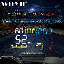 Affichage tête haute M15 OBD HUD pour voiture, affichage tête haute, indicateur de vitesse, avertissement, GPS, double Mode, 2020