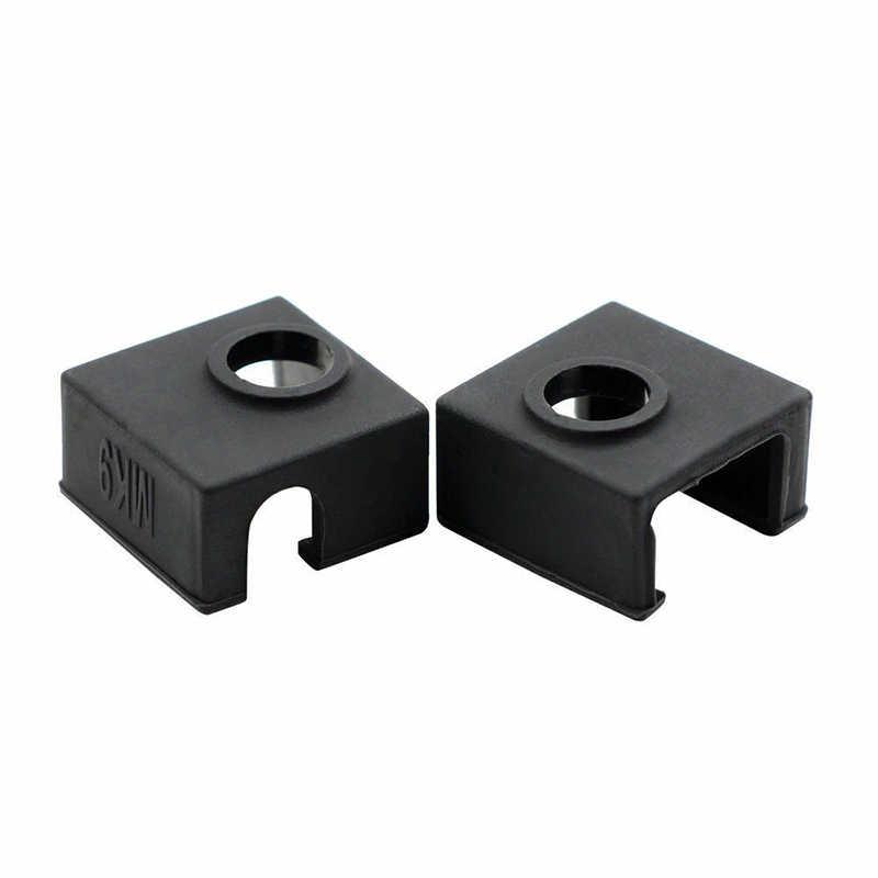 Nuovo 2pcs Durevole 3D Stampato Accessori Della Copertura Del Silicone Hot End Calzino Coperture Per Creality CR-10 10S S4 S5 ender 2/3/4/5 Pro