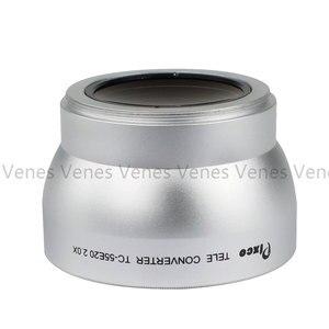 Image 2 - Tặng! 55Mm 2.0X Ren Ống Kính Phóng Đại Ống Kính Điện Thoại Tele Bộ Chuyển Đổi Ống Kính Cho Máy Canon NIKON PENTAX DSLR SLR Camera Bạc