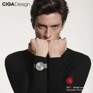 Image 5 - CIGA conception CIGA montre CIGA montre à Quartz Simple montre à Quartz ceinture en acier point rouge conception prix montre montres de mode pour hommes