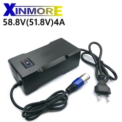 XINMORE 58.8V 4A Li ion chargeur de batterie avec ventilateur 58.8V chargeur intelligent utilisation pour 51.8V 52V 14S vélo électrique batterie pack électrique