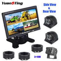 YuanTing-cámara de visión nocturna IR para remolque de 33 pies, de 7 pulgadas Monitor TFT, respaldo, visión trasera/lateral, impermeable, 4 pines, Cable de extensión de aviación