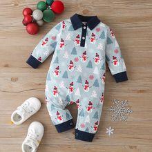 Рождественская одежда зимняя для маленьких мальчиков Рождественский