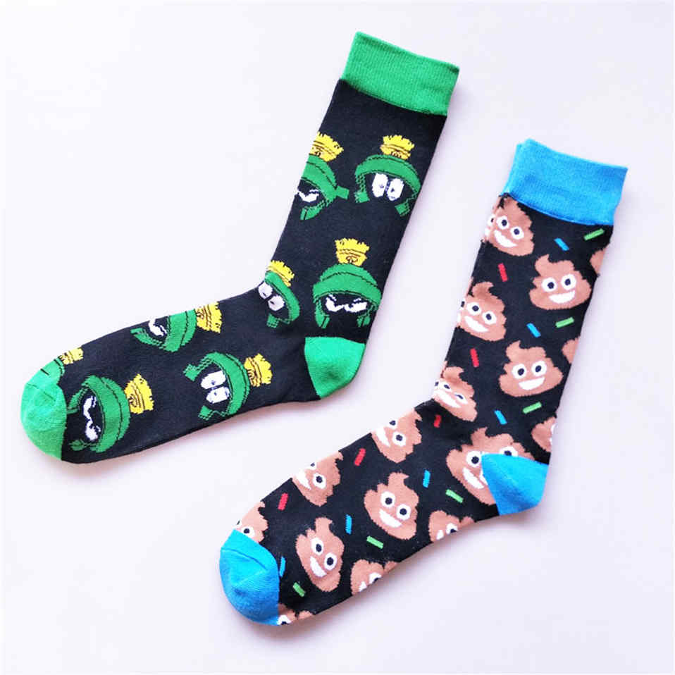 New Arrivals Funny Sock Cartoon Pattern Socks Winter Personality Happy Colorful Sox Comfort Breathable Knee-High Mens Calcetines