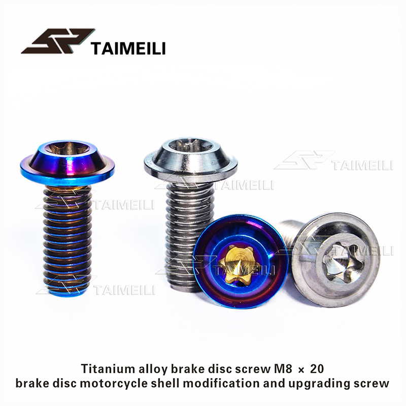 5pcs M4 M5 M6 x15mm Tapping Screws Titanium Bolts for Motorcycle Shell Retrofit