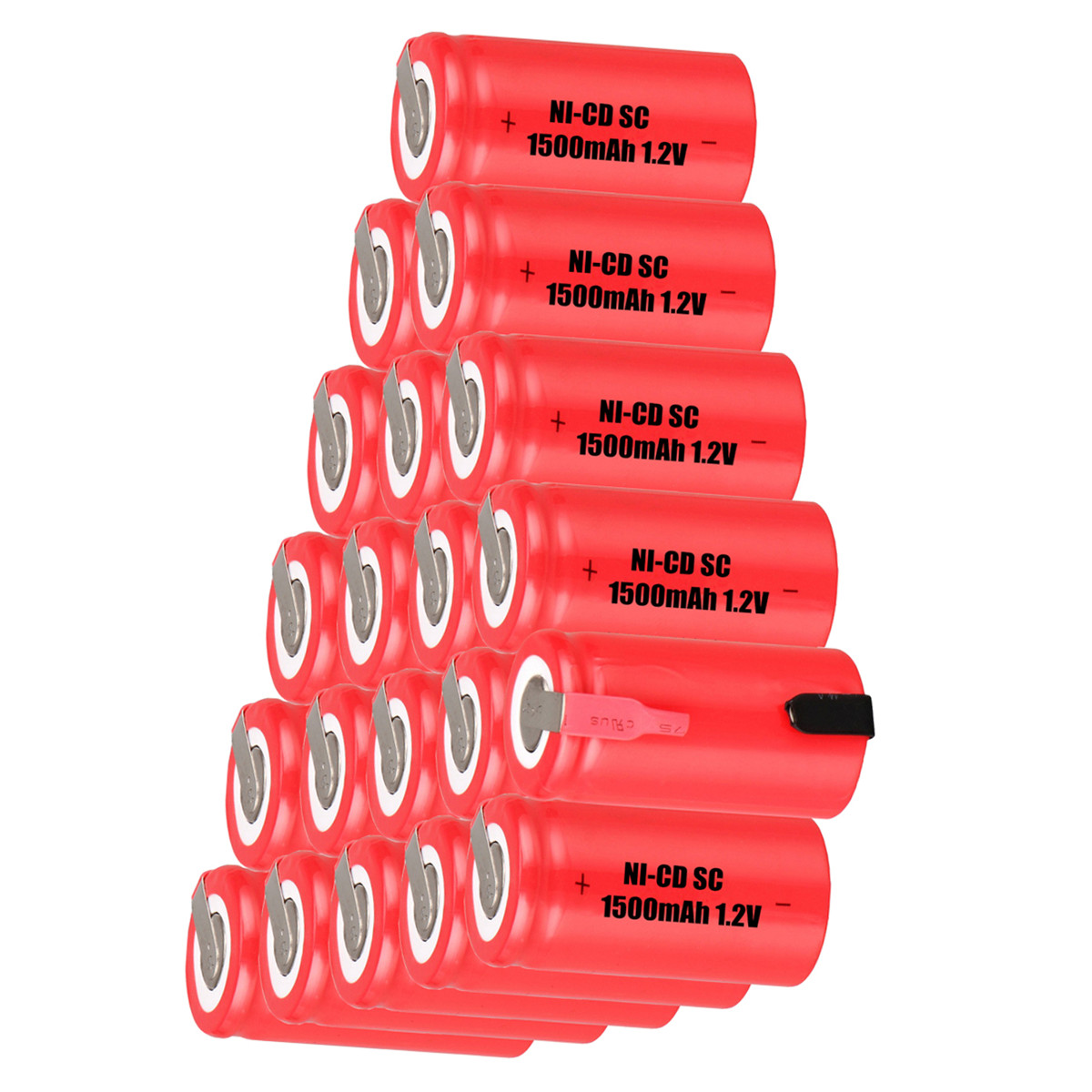 Lowest price 20 piece SC <font><b>battery</b></font> <font><b>1.2v</b></font> <font><b>batteries</b></font> rechargeable <font><b>1500mAh</b></font> <font><b>nicd</b></font> <font><b>battery</b></font> for power tools akkumulator image