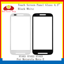 10Pcs/lot Touch Screen For Motorola Moto E Touch Panel Front Outer LCD Glass Lens XT1021 XT1022 XT1025 For Moto E TouchScreen yi yi clear screen guard protector for motorola moto e xt1021 xt1022 xt1025 3pcs