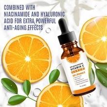2019 Vitamin C Serum Moisturizing Shrinking Pores Smooth Fine Lines Brighten Skin Color Vc Essence 30ml