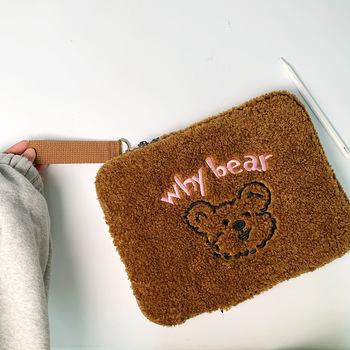 71011 6121313 314 1515 415 61717 317 4notebook laptop sleeve bags neoprene soft handdle laptop tablet pc case bag Korean 11 13 Inch Tablet Case Pouch Cartoon Bear Sleeve Laptop Bags For Student Girls Ipad Pro 11 Liner Bag Protective Cover