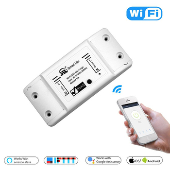 New Smart Light Switch DIY WiFi Breaker Timer Tuya / Smart Life APP Wireless Remote Control Work with Alexa Amazon Google Home