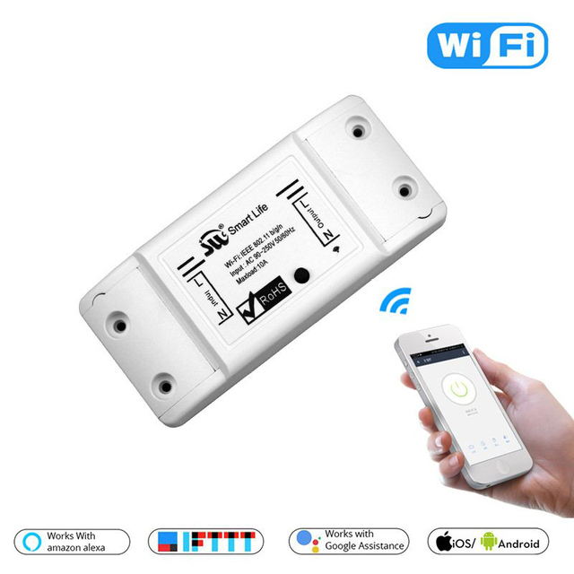 New Smart Light Switch DIY WiFi Breaker Timer Tuya / Smart Life APP Wireless Remote Control Work with Alexa Amazon Google Home