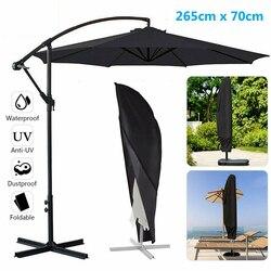 Outdoor Garden Banana Umbrella Cover Waterproof PC Oxford Cloth Patio Cantilever Parasol Shade Rain Cover Accessories 265cm*70cm