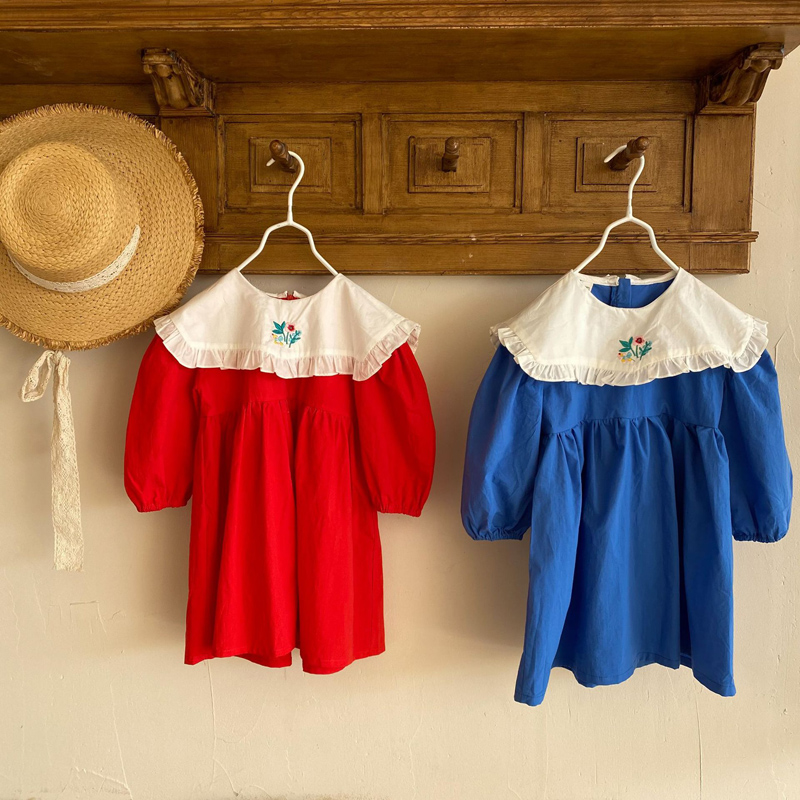 MILANCEL 2021Spring Kids Clothes Girls Dress Embroidery Kids Outfit 6