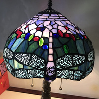 Tiffany Table Lamp Stained Glass European Baroque Classic for Living Room E27 110 240V