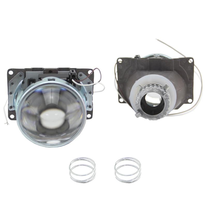 SHUOKE Bixenon HID projecteur lentille Bi xénon phare RHD LHD 3.0 pouces support métallique modification H4 halo Fit dans D2S D2H ampoule