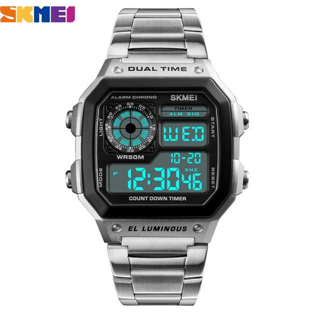 SKMEI Top Luxury Fashion Sport Watch Men 5Bar Waterproof Clock Casual Brand Electronic Mens Watches Digital Wristwatch Male
