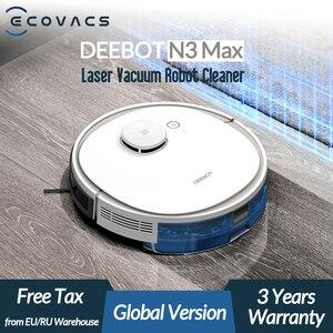 Ecovacs deebot n3 max laser robô aspirador de pó com mop limpeza doméstica varrendo máquina apoio alexa google app controle voz