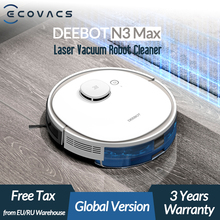 ECOVACS Deebot N3 Max Laser Robot Vacuum Cleaner with Mop Home Cleaning Sweeping Machine Support Alexa Google App Voice Control