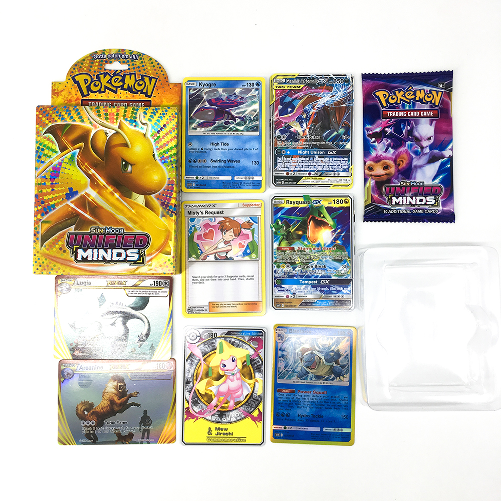 50PCS Pokemon GO Cards GX TRAINERS TGA TEAM BREAK 3D Flash Card SWORD&SHIELD SUN&MOON Collectible Gift Children Toy