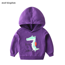 Boy Hoodies Dinosaur Long-Sleeve Cartoon-Pattern Cotton Fashion Children Autumn Mudkingdom