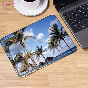 Image 5 - Yuzuoan plaj deniz palmiye manzara büyük promosyon rusya bilgisayar oyunu fare pedi Mousepads masanızda süslemek için kaymaz lastik pedi