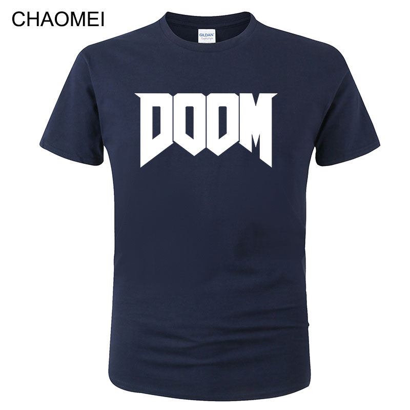 2020 Summer Fashion Doom T-shirt Game Printed T Shirt Men 100% Cotton Short Sleeve Casual Streetwear Homme Tops Tees C154