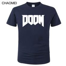 Tops T-Shirt Game-Printed Doom C154 Summer Fashion Short-Sleeve Streetwear Casual Cotton
