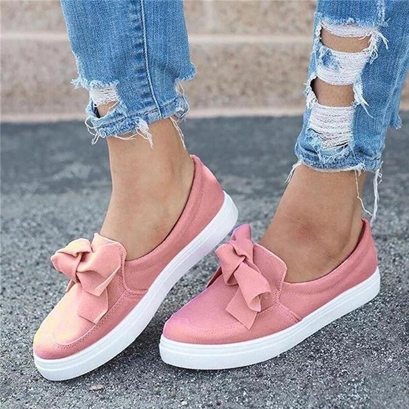 Women's shoes Pink Sneakers Butterfly