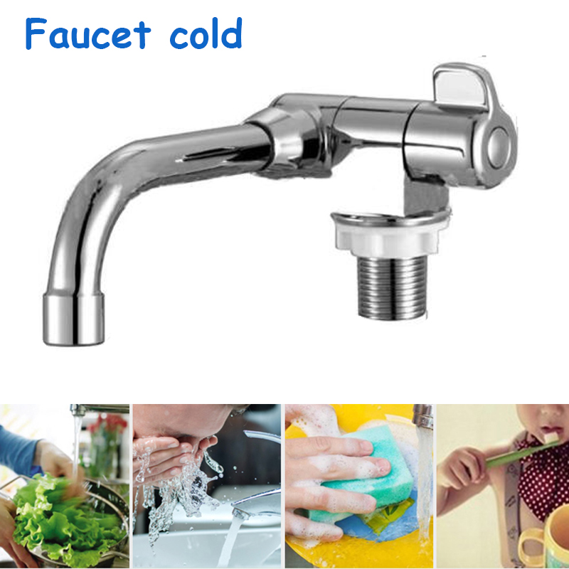 Cold Water Tap Single Hole Universial Kitchen Bathroom Faucet Camper Car Accessories Vanity Vessel Sinks Mixer Tap Deck Mount
