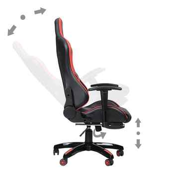Game Office Chair Computer Desk 360 Degree Rotating With Armrest Height Adjustable Reclining Telescopic Chair With Backrest