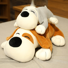 Big Plush Dog Cushion Stuffed Animal Dog Pillow Plush Toys Soft Shiba Inu Sleeping Pillow for Girl Kids Gift 50/75/90cm(China)