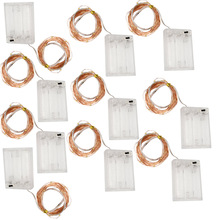 10x LED String Lights 1M 3.28FT 10LEDS Cooper Wire Garland Home Xmas Wedding Party Decor Powered By AA Battery Fairy lighting