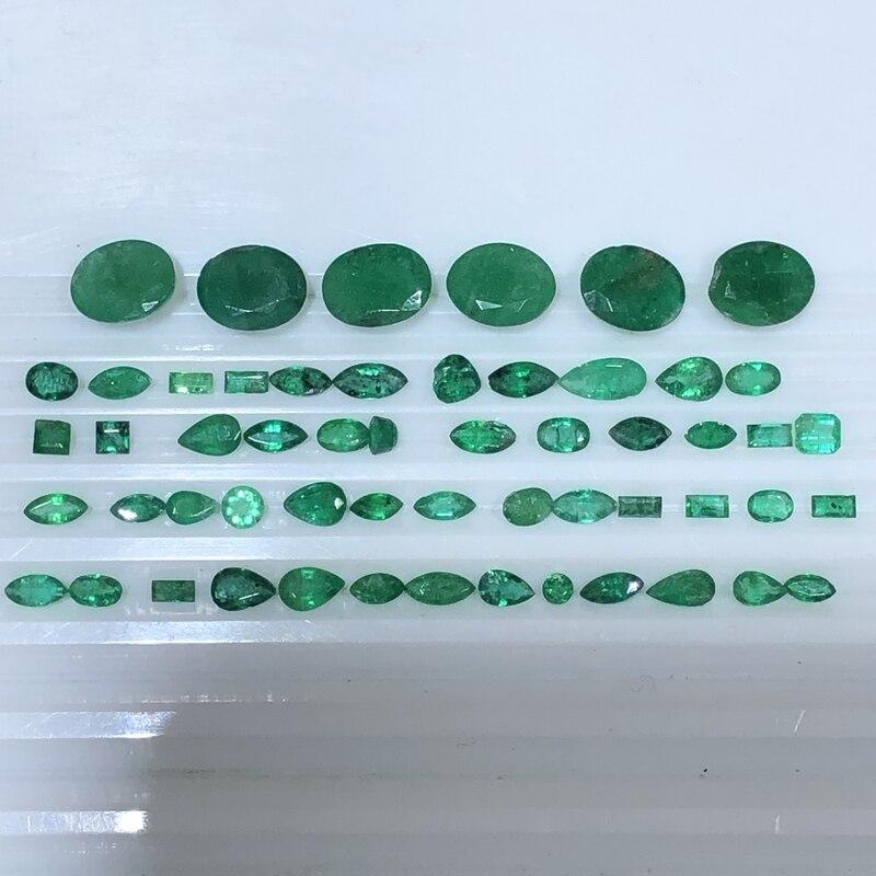 DIY การจัดส่งแบบสุ่มของ Emerald Beryl Bare หินตัวอย่างปรับแต่ง