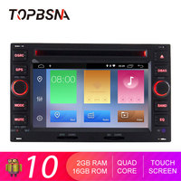 TOPBSNA Car DVD Player Android 10 For Volkswage Passat B5 Bora Polo GOLF MK3 Mk4 TRANSPORTER T5 T4 Auto 2 din GPS Navi WIFI RDS