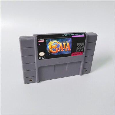 Illusion Of Gaia - RPG Game Card US Version English Language Battery Save