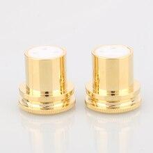HALLO Ende Lärm Stopper Gold Überzogene Kupfer XLR Stecker Caps XLR Schützen Kappe 3pin XLR weibliche Lärm Reduzierung Caps