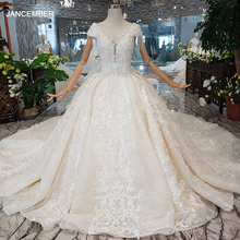LS00380 נשים יוקרה Dedding שמלת ציצית קריסטל שווי שרוול נסיכת כלה שמלת ארוך רכבת элегантное платье