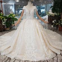 LS00380 Delle Donne di lusso Dedding Vestito nappa di cristallo del manicotto della protezione della principessa abito da sposa treno lungo элегантное платье