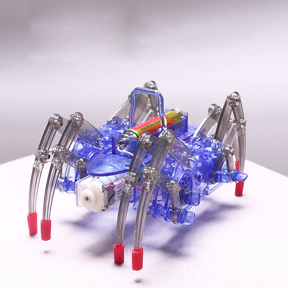 Kids Electiric Toy Electric Spider Robot Kit DIY Educational Intelligence Development Assembled Kids Toy Gifts