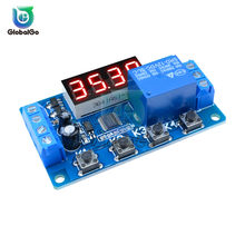 4Bit kırmızı Led 12V röle modülü anahtarı tetik zaman gecikmesi anahtarı devre zamanlayıcı döngüsü devre zamanlama kontrol modülü DIY