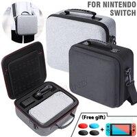 Per Nintendo Switch Deluxe borsa per il trasporto di grandi dimensioni NS custodia rigida in EVA di grande capacità nera per Console di gioco Nintendo Switch