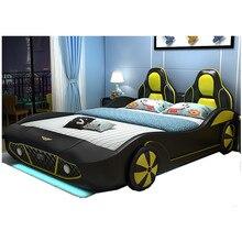 Гоночный автомобиль стиль детские кровати, разных размеров детская кроватка-автомобиль цены