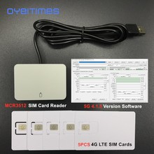 OYEITIMES 4G LTE SIM קורא כרטיסי מתכנת + 5PCS 128k 4G LTE ריק כרטיסי ה SIM + 1 מחשב 2G3G4G5G 4.1.5 Ver ה SIM כרטיס תוכנה